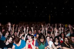 Thousands of fans at a Jack White Concert Royalty Free Stock Image