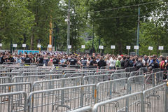 Thousands of fans waiting at Springesteen concert in Milan Royalty Free Stock Images