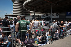 Thousands of fans waiting at Springesteen concert in Milan Royalty Free Stock Photos