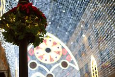 Thousands of glittering bulbs at Malaga Christmas lights Stock Photos
