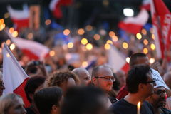 Thousands of government opponents protested in Cracow against new judicial reforms and future plans to change the Supreme Court. C Stock Images