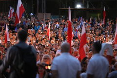 Thousands of government opponents protested in Cracow against new judicial reforms and future plans to change the Supreme Court. C Stock Photography
