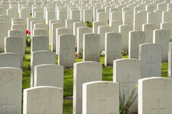 Thousands of graves in Ypres Stock Images
