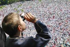 Thousands of Hungarian pilgrims Royalty Free Stock Photo
