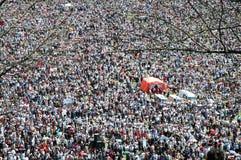 Thousands of Hungarian pilgrims Stock Image