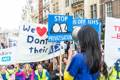 Thousands Junior doctors protest in London Stock Images
