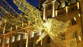 Thousands of lights in the streets of London at Christmas time - LONDON, ENGLAND - DECEMBER 10, 2019