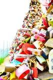 Thousands of love padlocks at N Seoul Tower Stock Photo