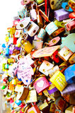 Thousands of love padlocks at N Seoul Tower Royalty Free Stock Images