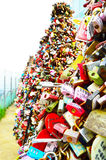 Thousands of love padlocks at N Seoul Tower Stock Photography