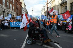 Thousands March in Support of the NHS Royalty Free Stock Images
