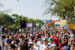 Thousands March In West Hollywood For APLA Stock Photography