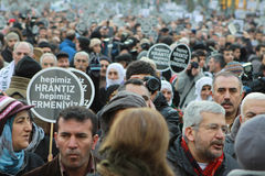 Thousands mark Hrant Dink's death 5 years on Royalty Free Stock Image