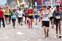 Thousands of Participants Running in 2014 Comrades Marathon Road Royalty Free Stock Photography