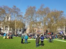 Extinction Rebellion: Climate protesters in Central London royalty free stock photos