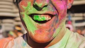 Thousands of people take part in the Color Run 2014 in Milan, Italy Stock Image