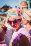 Thousands of people take part in the Color Run 2014 in Milan, Italy Stock Photo