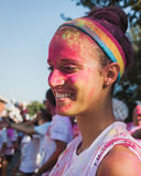 Thousands of people take part in the Color Run 2014 in Milan, Italy Stock Images