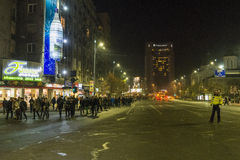 Thousands protesters in Bucharest Royalty Free Stock Photo