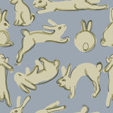 Thousands of rabbits Stock Image