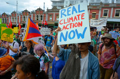 Thousands rally for action on climate change Royalty Free Stock Image
