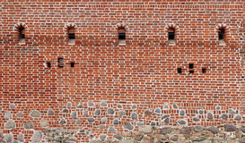 Thousands of red clay bricks Stock Photo