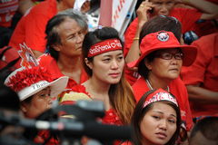 Thousands of Red Shirts Protest in Bangkok. Around 20,000 Red shirt protesters gather at a rally in the city centre on May 19, 2013 in Bangkok, Thailand. The Royalty Free Stock Photography