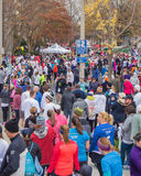 Thousands of Runners Registering for the Drumstick Dash, Roanoke, Virginia, USA Royalty Free Stock Photography