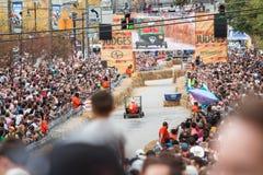 Thousands Of Spectators Watch Atlanta Soap Box Derby Race Stock Image