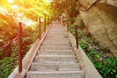 Thousands steps at huashan mountain Stock Image