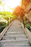 Thousands steps at huashan mountain Royalty Free Stock Image