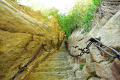Thousands steps at mount hua Royalty Free Stock Image