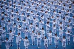 Thousands Taijiquan Stock Photo