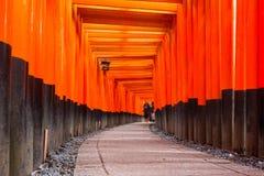 Thousands of torii gates at Fushimi Inari Shrine Stock Photography