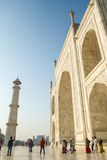Thousands of tourists visit daily the Taj Mahal Royalty Free Stock Photo