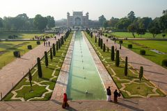 Thousands of tourists visit daily the Taj Mahal Stock Image