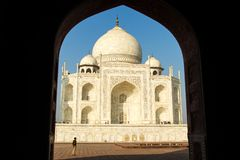 Thousands of tourists visit daily the Taj Mahal Royalty Free Stock Image