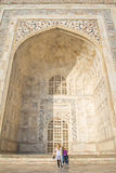 Thousands of tourists visit daily the Taj Mahal Royalty Free Stock Photography