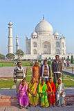 Thousands of tourists visit daily the Taj Mahal mausoleum Stock Photography
