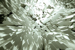Jutting white cubes Royalty Free Stock Image