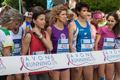 Thousands of women take part in the Avon running 2013 Stock Image