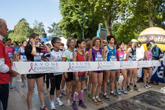 Thousands of women take part in the Avon running 2013 Royalty Free Stock Photo