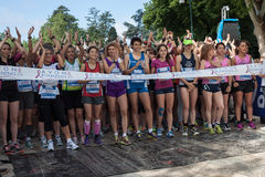 Thousands of women take part in the Avon running 2013 Royalty Free Stock Photos