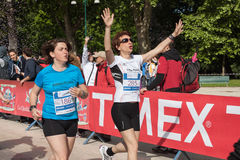 Thousands of women take part in the Avon running 2013 Royalty Free Stock Photography
