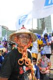 Thousands of workers marched Labor Day in Jakarta Stock Photos