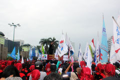 Thousands of Workers Protest Price Fuel Hike Stock Images