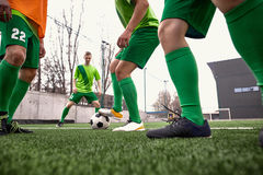 Thq legs of soccer football player Royalty Free Stock Photos