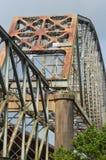 Thr Historyczny O K Allen most w środkowym Luizjana tuż przed finał rozbiórką Obrazy Stock