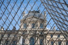 Thr Louvre perspective Stock Image