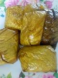 Thr rice. Tate red porridge food Thai Stock Photo